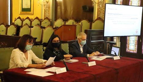 Pifarré i Freixanet i el coordinador econòmic, Ramon Sentís.