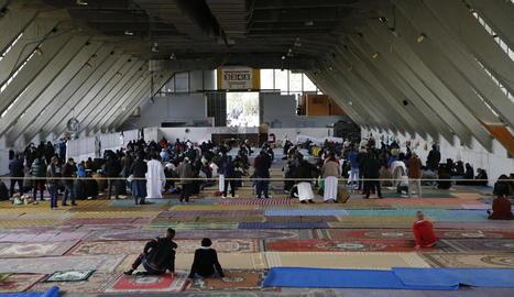 Imatge de la pregària de divendres passat al Palau de Vidre.