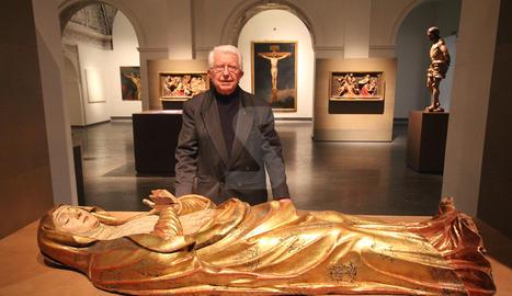 Mossèn Jesús Tarragona al Museu de Lleida.