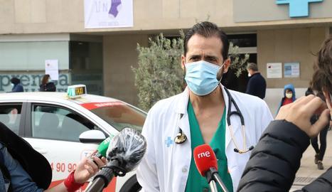 El responsable de covid-19 a l'Arnau, el doctor José Luis Morales-Rull.