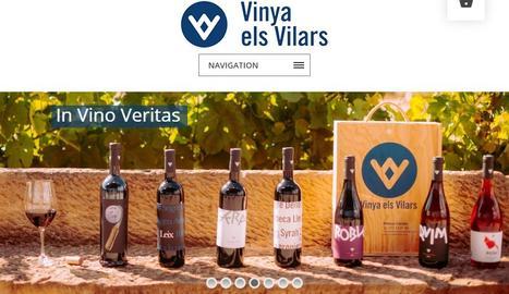 Nova web de la Vinya els Vilars d'Arbeca, ara amb venda online