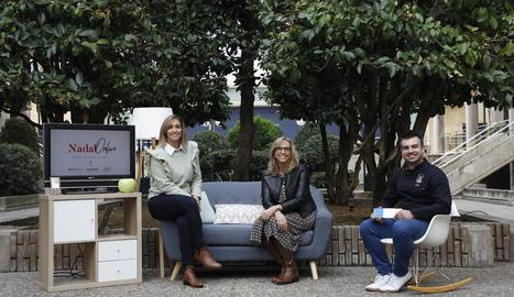 Laia Rogel, Glòria Mora i Iván Pascual, impulsors de l'Encontre Nadalenc Digital per a empreses.