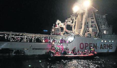 Open Arms ha rescatat aquesta setmana 259 persones.