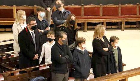 El bisbe de Lleida, Salvador Giménez, va oficiar ahir al migdia a la Catedral la missa exequial per mossèn Jesús Tarragona.