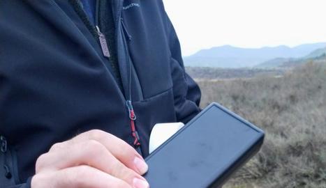 Detall d'un mesurador que s'ha instal·lat a la Granja d'Escarp.