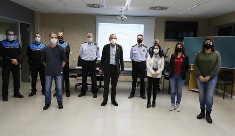 Acte de benvinguda ahir dels nous agents cívics de Lleida.