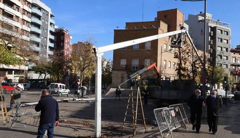La Diputació retira la carpa de Prat de la Riba i es recupera el trànsit
