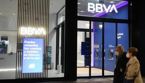 Imatge d'una de les sucursals del BBVA a la ciutat de Bilbao.