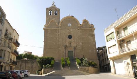L'església d'Alcarràs, on s'ha d'actuar.
