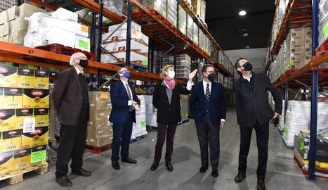 Visita de la Fundació La Caixa en el marc del Gran Recapte.