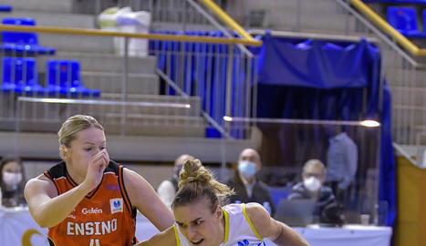 La belga Laure Resimont va disputar els seus primers minuts al Palau.