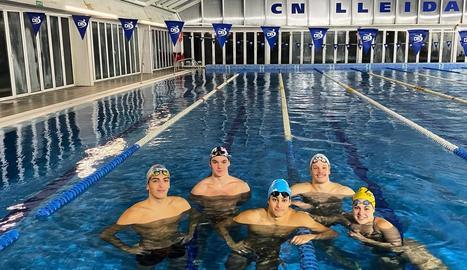 Els nadadors del CN Lleida que competiran a l'Estatal