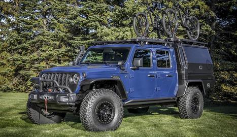 Utilitzant els exclusius Jeep Performance Parts (JPP) i accessoris personalitzats, l'equip Mopar dels EUA ha transformat un Jeep Gladiator 2020 en un divertit concept car.