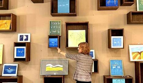 La Neus va exposar una mostra de la seua obra a l'Espai ENE de Lleida.