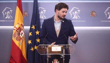 El portaveu d'ERC al Congrés dels Diputats, Gabriel Rufián.