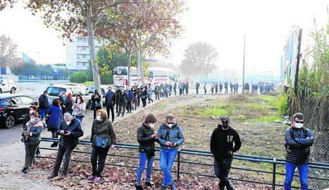 Massiva afluència al cribratge de Lleida