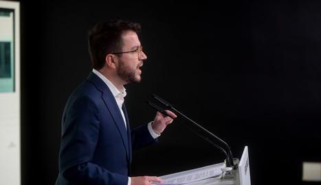 El vicepresident de la Generalitat i coordinador nacional d'ERC, Pere Aragonès.