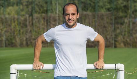 Lluís Cortés a les instal·lacions de la Ciutat Esportiva Joan Gamper