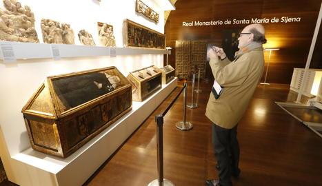 Exposició de les obres a Sixena, tancada des de fa mesos.