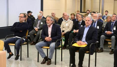 Álvaro Pérez, Francisco Correa i Pablo Crespo, en el judici.