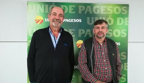 Jaume Pedrós i Joan Caball van analitzar ahir els pressupostos per al ministeri d'Agricultura.