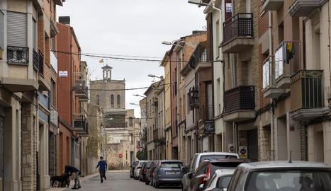 Un dels carrers de Guissona on es renovarà l'enllumenat.