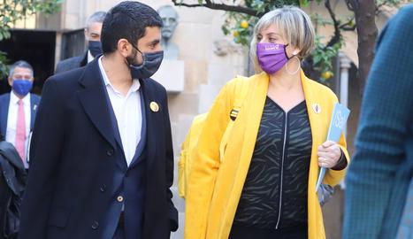 El conseller de Treball i Afers Socials, Chakir El Homrani, i la consellera de Salut, Alba Vergés.