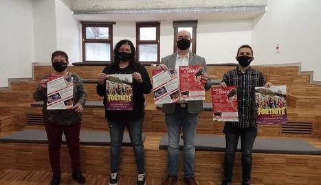 La presentació ahir dels actes nadalencs a Balaguer.