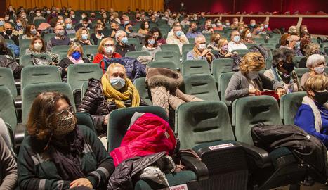 L'aforament del Teatre Ateneu de Tàrrega, reduït a la meitat com a mesura de prevenció.
