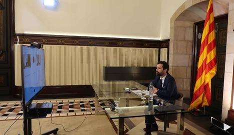 Torrent es va reunir ahir amb diputats francesos.