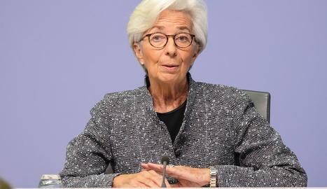 "La presidenta del BCE, Christine Lagarde, aposta per deixar ""bastant temps"" els tipus baixos."