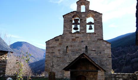 Les campanes de l'església de Santa Maria de Cardet van sonar ahir.