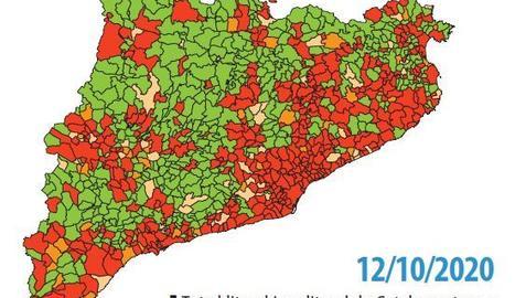 Evolució del risc de rebrot a Catalunya