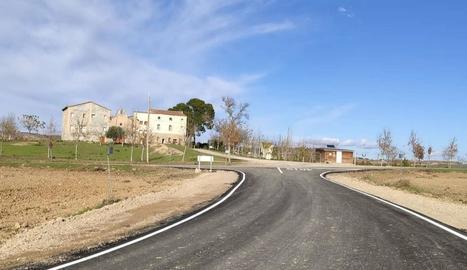 Imatge del camí de Montagut d'Alcarràs.