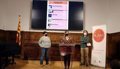 Presentació del festival In_Finit de Menàrguens, ahir a l'IEI.
