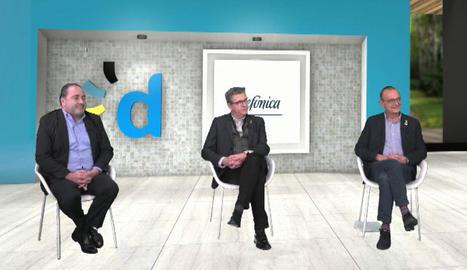 José Manuel Casas, Joan Talarn i Miquel Pueyo van protagonitzar la primera part del webinari.