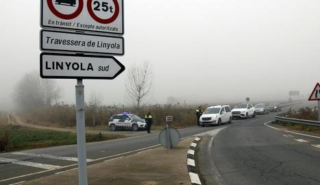 Controls policials als accessos de Linyola, amb més de 150 casos de covid-19