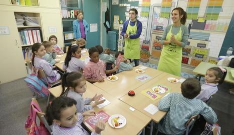 Imatge d'una de les campanyes de promoció del consum de fruita entre escolars de Lleida.