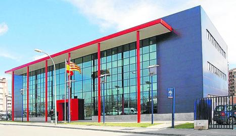 Vista general de la comissaria dels Mossos d'Esquadra a Lleida.