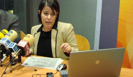 Montse Bertran en una roda de premsa de l'entitat