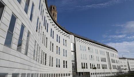 Imatge de l'edifici judicial del Canyeret de la ciutat de Lleida.
