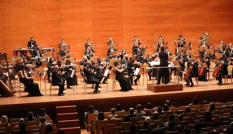 Més de 300 persones van omplir el 50% de l'aforament permès al primer concert de l'any a l'Auditori.
