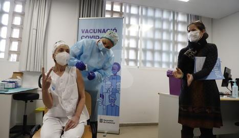 Farreny ha visitat el CAP Pardinyes-Balàfia en el primer dia de vacunació al centre.