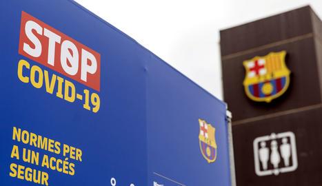 Imatge d'arxiu de l'exterior del Camp Nou.