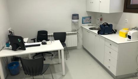 Una de les estances del nou consultori mèdic.
