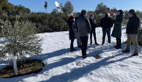 Marta Vilalta va visitar ahir pobles de les Garrigues.