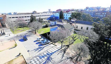 Vista aèria de l'hospital Santa Maria de Lleida.