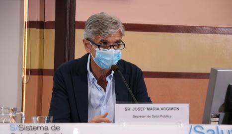 El secretari de Salut Pública, Josep Maria Argimon.