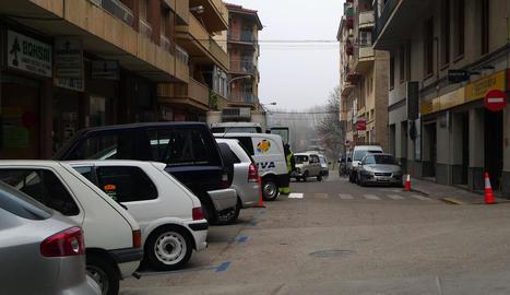El carrer Bòfia, on es farà la reordenació del pàrquing.