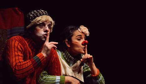 Els lleidatans Gabriel Solans i Ares Piqué són 'Julieu i Rometa', que podrà veure's avui a l'Escorxador.